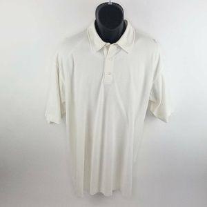 Ermenegildo Zegna Polo Shirt Ivory Short Sleeves